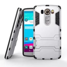 Strong and Bold LG V20 Case Silm Shockproof Robot Armor Hybrid Silicone Rubber Case