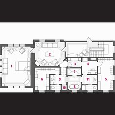 His and Her's Mastersuite w/shared tub/shower. Master Suite Floor Plan, Shop Interior Design, House Design, Summer Store, Master Bath, Master Bedrooms, Home On The Range, Front Door Design, Deck Plans