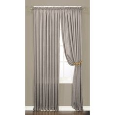 Luster Crushed Faux Silk 95-inch Window Panel Pair   Overstock.com