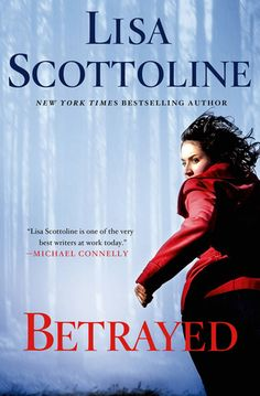Betrayed by Lisa Scottoline. Mystery lovers, Scottoline's latest book will keep you on the edge of your seat and frantically thumbing through the novel. I fell in love with her books while working for her publisher but like a fine wine, she gets better with age. Twists and turns are thrown in with every chapter and every time you think you know what's going to happen, another one is heading your way. If you pick up Scottoline's latest book, you won't be 'Betrayed' by the plot. Happy reading!.