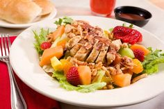 Tropical Chicken and Fruit Salad - ENT Wellbeing Sydney Diet and Nutrition  #health #food #recipies