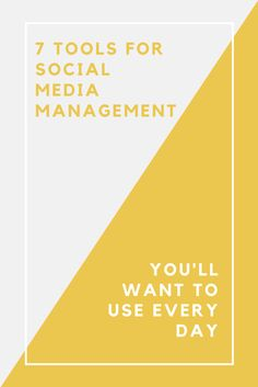 there's a bunch of tools out there to help you simplify your social media management save lots of time everyday. Take a look at 7 of our most favorite. Social Media Tips, Just Love, Online Business, Campaign, Management, Tools, Marketing, Day, Counter