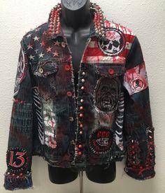 Horror denim jackets from ChadCherryClothing.