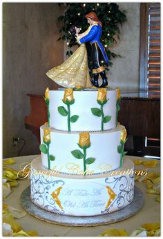 Beauty and The Beast Themed Wedding Cake | Flickr - Photo Sharing!