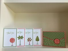 A little set of thank you cards using stamps (Totally Trees) from the new…