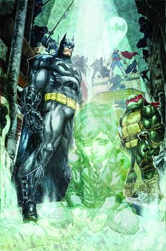 Batman & Teenage Mutant Ninja Turtles #4 With the possibility existing that they might never get home, the Turtles take up residence at Wayne Manor. Everyone seems to be adapting except for Raphael, who still can't understand why his friends all trust this Bat-person. So Batman takes the skeptical Turtle on a trip down Crime Alley to tell Raph what led him to don the cape and cowl in the first place.