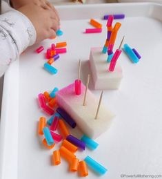 straws on toothpicks fine motor activity