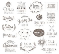 Premade Logo Bundle // Editable Templates // PSD by thePENandBRUSH