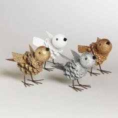 Pinecone birds...cute for kid project