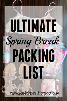 Pastel N Pink: Ultimate Spring Break Packing List