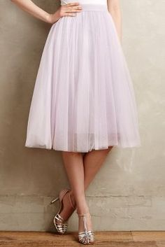 Bailey 44 Tulle Midi Skirt #anthrofave