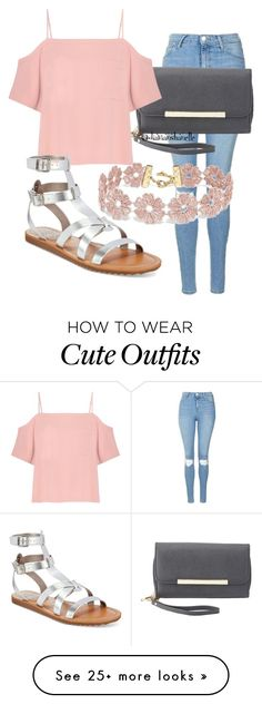 """Cute Outfit"" by diavianshanelle on Polyvore featuring Topshop, Charlotte Russe, T By Alexander Wang, Circus By Sam Edelman, BaubleBar, cute and Pink"