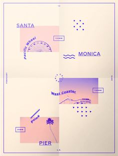gridologie:  Just finished this one. Santa Monica Pier Poster.