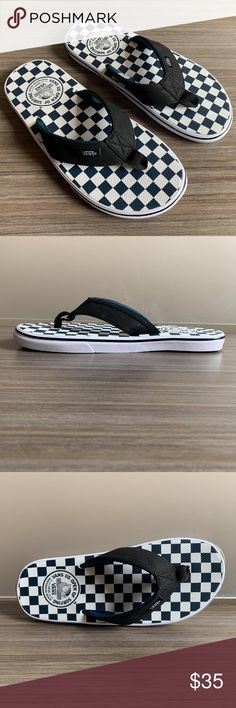 8a41590faff8 Vans LA Costa Lite Flip Flops 2018 US OPEN Vans LA Costa Lite Ultracush  Thong Checkerboard