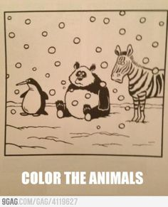 """Coloring Book Page for the lazy people--""""funny""""! Funny Shit, Haha Funny, Funny Cute, Hilarious, Funny Stuff, Funny Jokes, I Love To Laugh, Make Me Smile, Humor Animal"""