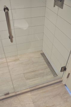 Linear shower floor drain …