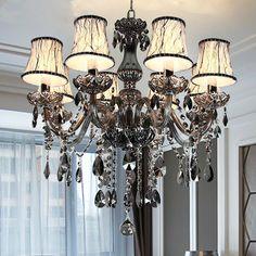Cheap led crystal chandeliers, Buy Quality crystal chandelier directly from China ceiling chandelier Suppliers: New Modern led crystal chandeliers for kitchen room Livingroom Bedroom Gray Color K9 crystal lustres de teto ceiling chandelier