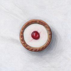 Bakewell Tart by Joel Penkman Bakewell Tart, Cake Illustration, Food Illustrations, Joel Penkman, Candy Drawing, Sarah Graham, Food Artists, Food Painting, Gcse Art