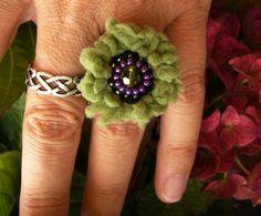 Ringe - ••• Häkelring Wuschelring ••• - ein Designerstück von crochet bei DaWanda