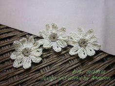 #114 レース糸で編むマーガレットモチーフの作り方|編み物|編み物・手芸・ソーイング