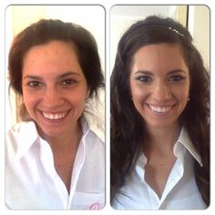 Before and after of bride, Gena