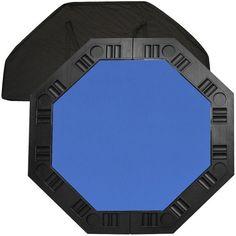 Trademark Poker 48-Inch 8-Player Octagonal Poker Tabletop (Blue) by Trademark Global. $54.88. Save 22% Off! #poker #facebook
