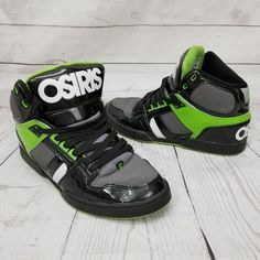 Osiris NYC 83 Mens 9.5 EU42.5 Athletic Skateboarding Shoes Green Black Gray  SK8   2e1b788fc80