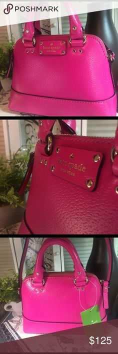"✨FLASH SALE✨Kate Spade Rachelle Wellesley Kate Spade Rachelle Wellesley sweetheart pink mini with gold hardware. Brand NWT 6""H x 8""W x 2.5""D drop is 21"" kate spade Bags Crossbody Bags"