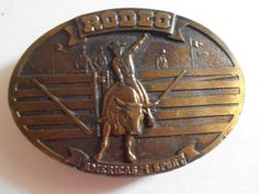 1977 vintage bull riders belt buckle by tjmccarty on Etsy, $22.00