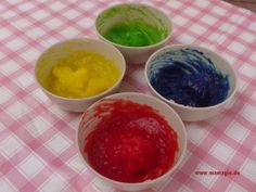 Fingerfarbe selbermachen