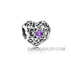 PANDORA FEBRUARY SIGNATURE HEART BIRTHSTONE CHARM HOT, Only$14.00 , Free Shipping! http://www.pandoraop.com/pandora-february-signature-heart-birthstone-charm-hot.html