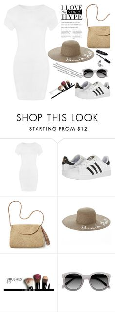 """Untitled #358"" by alibasicamina ❤ liked on Polyvore featuring WearAll, adidas, Mar y Sol, SONOMA Goods for Life, Bobbi Brown Cosmetics and Ace"