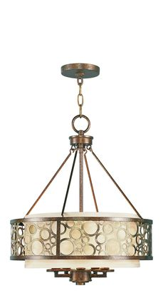 Livex Lighting Avalon Palacial Bronze with Gilded Accents Chandelier 8675-64
