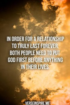 In order for a relationship to truly last forever...
