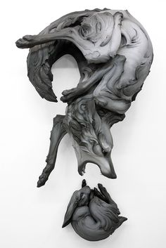 Artist Beth Cavener articulates intense human emotions and psychology through dynamic sculptures of animals. #sculpture