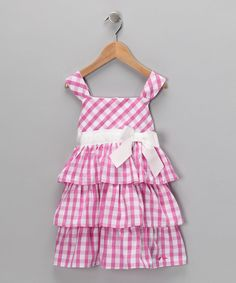 Pink Gingham Bow Dress - Infant & Toddler...idea for my brother's wedding