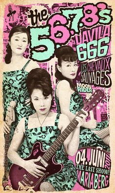 The 5.6.7.8's gig poster