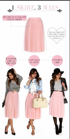Blush tea length tulle skirt