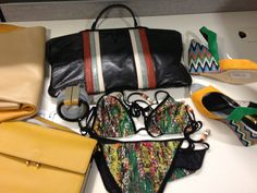 Resort wear :rectangular bag; Botega Veneta, bikini: missoni,bracelet; vionnet, wedges; Rupert Samuelson, foldable bag: marni