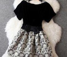 Fashion Velvet Jacquard Dress