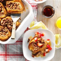 Baked French Toast with Strawberries Recipe