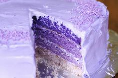 Perfect purple ombre cake for a DIY wedding cake! Purple Birthday, Purple Party, Purple Wedding, Birthday Cakes, Birthday Ideas, Third Birthday, Rainbow Birthday, Birthday Stuff, Happy Birthday