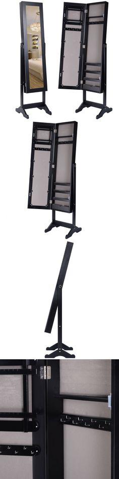 Multi-Purpose 168165: Mirrored Jewelry Cabinet Mirror Organizer Storage Box Ring W/Stand Black -> BUY IT NOW ONLY: $55.89 on eBay!