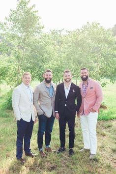 Tyler Johnson and his groomsmen: http://www.stylemepretty.com/2014/09/22/emily-maynards-surprise-wedding-to-tyler-johnson/   Photography: Corbin Gurkin - http://corbingurkin.com/