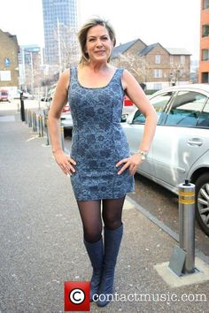 Penny Smith Penny Smith leaving the ITV studios - Pictures) Short Skirts, Short Dresses, Mini Skirts, Tight Dresses, Sexy Dresses, Penny Smith, Celebrity Boots, Skirts With Boots, Black Pantyhose
