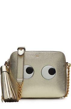 ANYA HINDMARCH Leather Eyes Cross-Body Bag. #anyahindmarch #bags #shoulder bags…