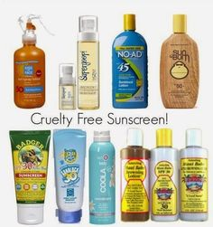 CRUELTY FREE Sunscreen - click for the best cruelty free BRANDS LIST (MAKE UP AND COSMETIC 2014)   Beauty4Free2U