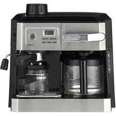 DeLonghi® Combi 10 Cup Coffee Maker-4 Cup Espresso Maker in Coffee Makers | Crate and Barrel
