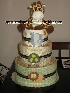 baby boy giraffe diaper cakes | Nappy Cake Photos Submitted By Our Readers