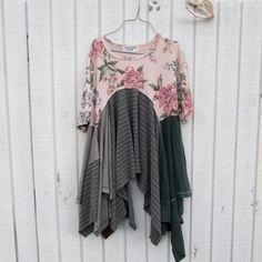 medium xlarge Romantic Upcycled clothing / by CreoleSha on Etsy, $87.99